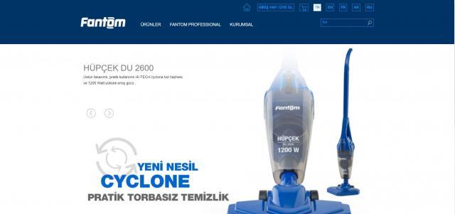 Fantom Elektrikli Ev Aletleri Kurumsal Web Sitesi