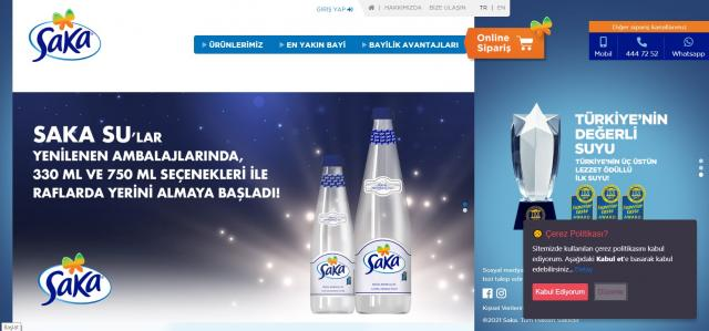 Saka Su Online Satış ve Sipariş Sitesi